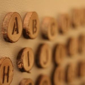 Wood Custom Words Fridge Magnets - Up to 10 wood burned letters.
