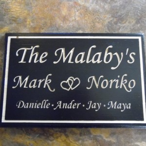 Custom Hand Made Wood Family Name Plaque