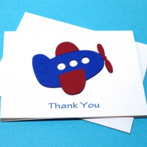 Airplane Birthday Thank You Card Set, Baby Shower Thank You Cards, Planes Airplanes Airplane Thank You, Up Up and Fly Away Cards