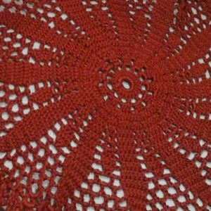 Medium Petal Doily in Copper Mist
