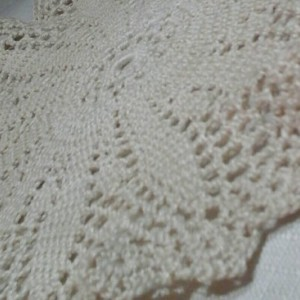Medium Petal Doily in Ecru