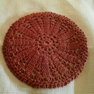 Small Petal Doily in Copper Mist.