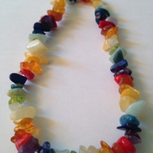Rainbow Gemstone Health Therapeutic Aid Adult Necklace