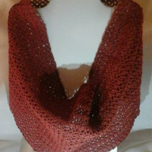 Lacey Infinity Cowl in Copper Mist