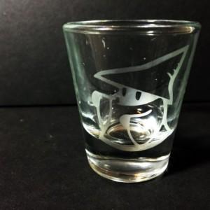 Final Fantasy - Chocobo / Black Mage Etched Shot Glasses