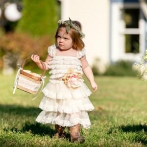 Rustic Burlap + Lace Flower Girl Basket