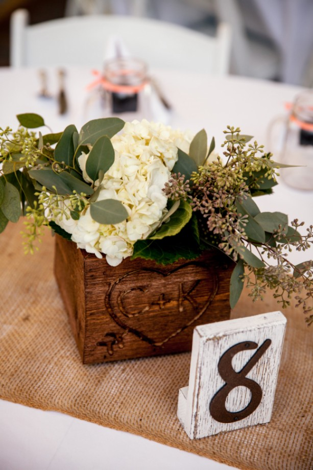Rustic-Chic Distressed Wood Table Numbers