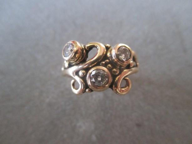 14Kt Gold Diamond Ring