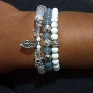 Compassion inspired wrist mala set of 3 - yoga lifestyle jewelry