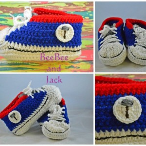 Super Hero Inspired Converse Crochet Baby Shoes