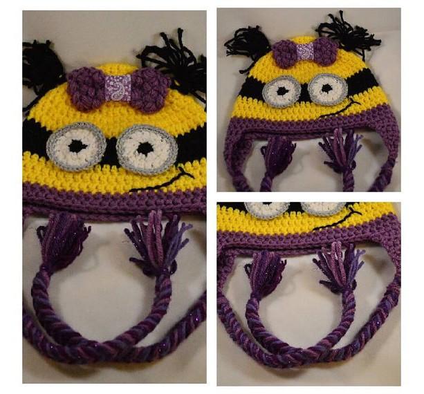 Crochet Minion Hat - Child Size