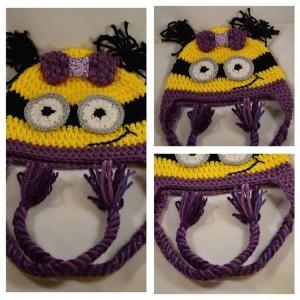 Crochet Minion Hat - Teen/Adult Size