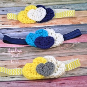 Crochet Heart Headband