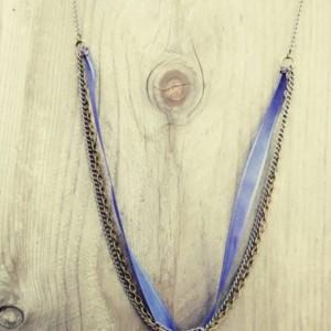 Boho / hippie style owl necklace