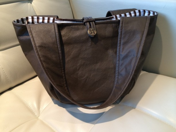 Brown Leather Bag /// Large Purse