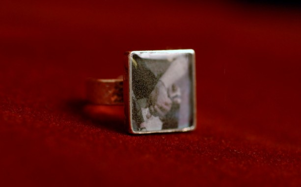 Made to order, sterling silver adjustable square ring