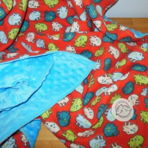 Frog Minky Toddler Blanket