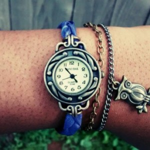 Vintage boho/hippie style owl watch