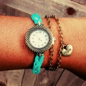 "Vintage boho/hippie style ""hope"" watch"