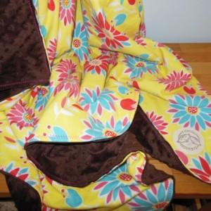 Flower Minky Toddler Blanket