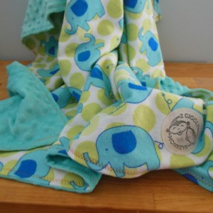 Elephant Minky Toddler Blanket