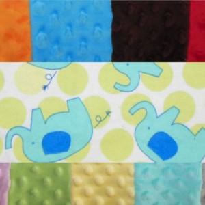 Elephant Minky Toddler Blanket