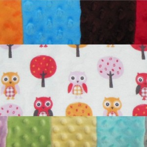 Owls and Trees Minky Toddler Blanket