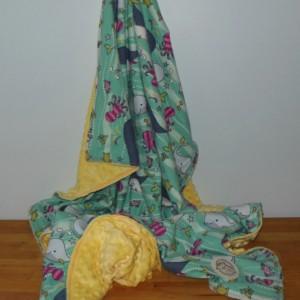Sealife Minky Toddler Blanket