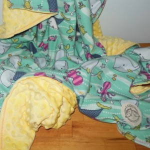 Sealife Minky Toddler Blanket