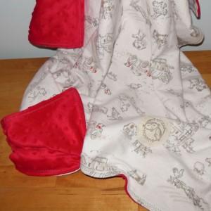 Farm Life Minky Toddler Blanket
