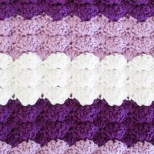Purple Crochet Baby Blanket - Baby Shower Gift for Girls - Hand Made Baby Blanket - Machine Washable Baby Blanket - Crochet Baby Afghan