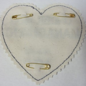 Custom Embroidered Heart Tie Patch.For the Groom.