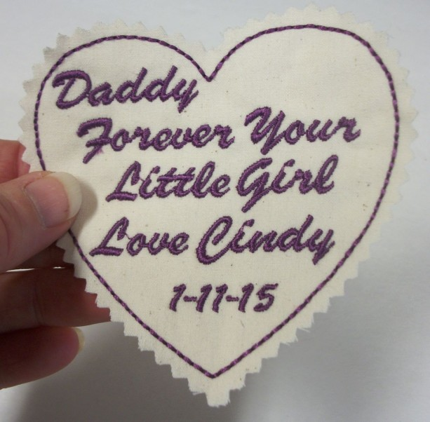 Custom Embroidered Tie Patch. Father of the Bride. Wedding gift idea for the Groom, Stepdad, Uncle, Brother, Personalized