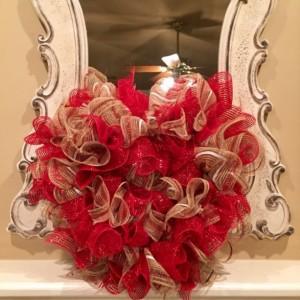 SALE (item shown) Playful Heart ruffle wreath