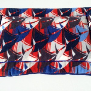 Nautical Sailboats Fleece Dog Bed | Dog Crate Pads | Large Crate Pad | Fleece Dog Bed | Dog Gifts | Gifts for Dogs | Gifts for Dog Lovers
