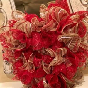 SALE (item shown) Playful Heart ruffle wreath