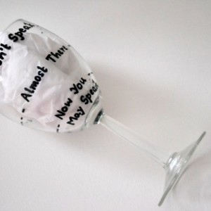 Funny Wine glass Gift - Rough Day - Don't Speak - First Let Me Have Wine - Hand Painted Wine Glass