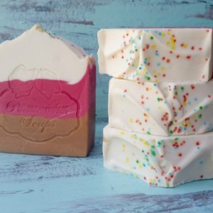 Neapolitan Ice Cream Goat Milk Soap
