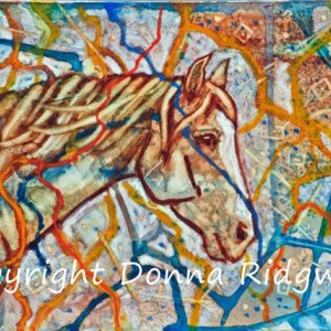 Horse art painting by Donna Ridgway