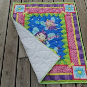 Fairy Quilt with Minky Backing