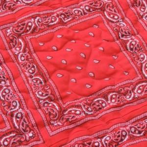 Bandana Quilt Red and Denim Western Cowboy Blanket
