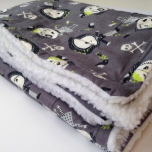Zombie Flannel Blanket, Dog Blanket, Halloween Zombie, Zombie Bedding, Sherpa Blankets, Crate Blanket Dog, Lap Blanket, Flannel Dog Throw