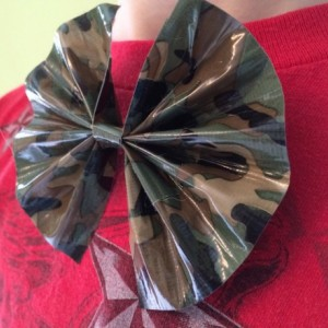 Custom Handmade Duct Tape Bow Set of 2 - Bowtie or Hair Bow