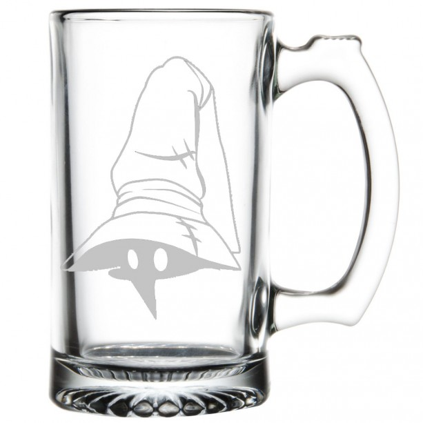 Final Fantasy Etched Pint Glass Black Mage