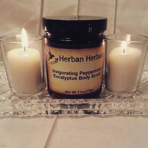 Peppermint Body Scrub, Eucalyptus Body Scrub, organic sugar scrub, aromatherapy scrub, skin exfoliator, aromatherapy salts
