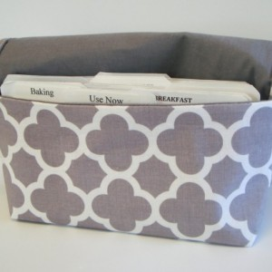 Coupon Organizer Cash Budget Organizer Holder- Attaches to your Shopping Cart  - Quatrefoil Grey