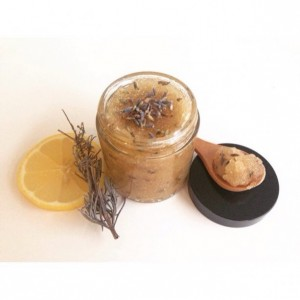 Face Scrub, Honey Face Scrub, Organic Sugar Scrub, Sticky Sweet Face Scrub, Lavender Face Scrub, 4 ounce jar