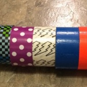 Custom Handmade Duct Tape Bow Set of 2 - Bowtie or Hair Bow