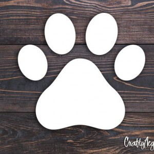 "Animal Paw Print 3"" Vinyl Decal"