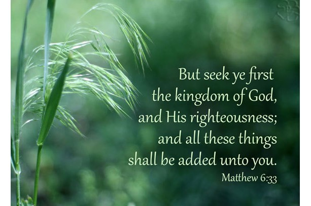Bible Art - Seek Ye First the Kingdom of God - Matthew 6.33 - Christian Art - Religious Art - Christian Photo Decor - Matthew 6 verse 33